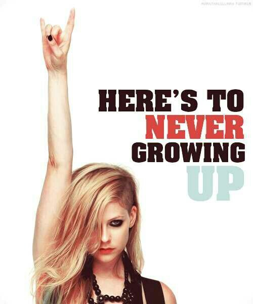 دانلود و ترجمه فارسی متن آهنگ Here's To Never Growing Up از Avril Lavigne